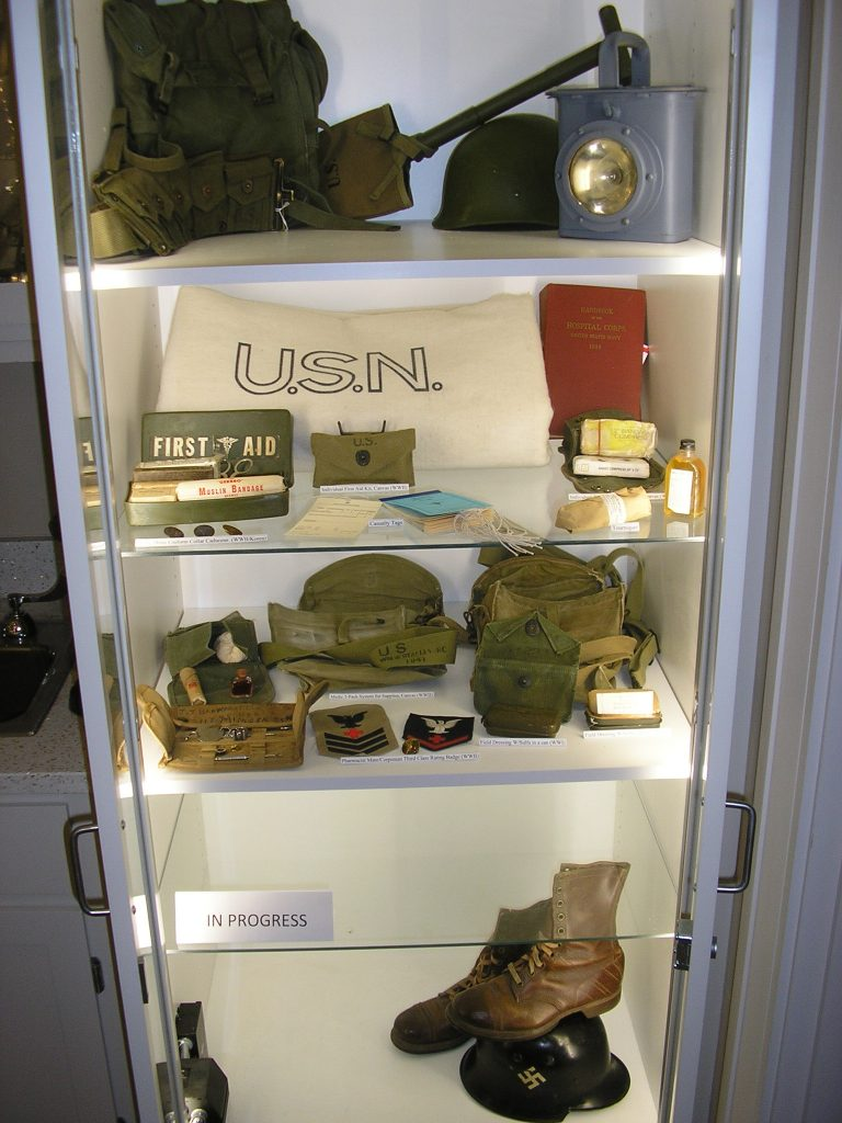 WWII and Korea, Field Equipment - Cabinet 6A (Lower South Wing)